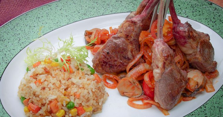 Grilled Lemongrass Lamb Chops