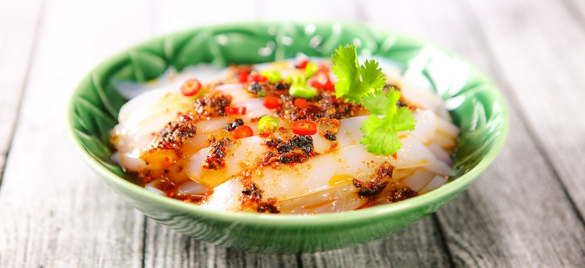 Mung Bean Jelly with Sichuan Spicy Sauce