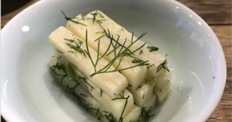 Bamboo Shoots with Fennel Dressing