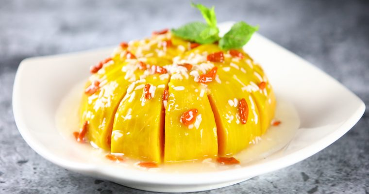 Steamed Pumpkin with Fermented Rice