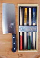 Chef Yan's Signature Knife & Chopsticks
