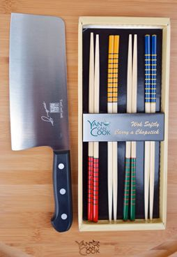 Chef Yan's Signature Knife & Chopsticks