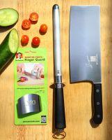 Pro Knife, Diamond Steel Sharpener & Finger Guard