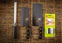 Pro & Signature Knives, Diamond Steel Sharpener & Finger Guard
