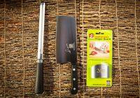 Signature Knife, Diamond Steel Sharpener & Finger Guard